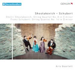 Shostakovich: String Quartet no. 8 in C minor / Schubert: String Quartet no. 14 in D minor by Dmitri Shostakovich ,   Franz Schubert ;   Aris Quartett